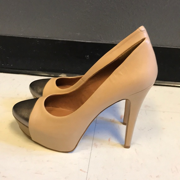 96900d7b9b1a Bcbg nude and bronze heels